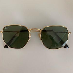 Ray Bans Hexagonal Sunglasses